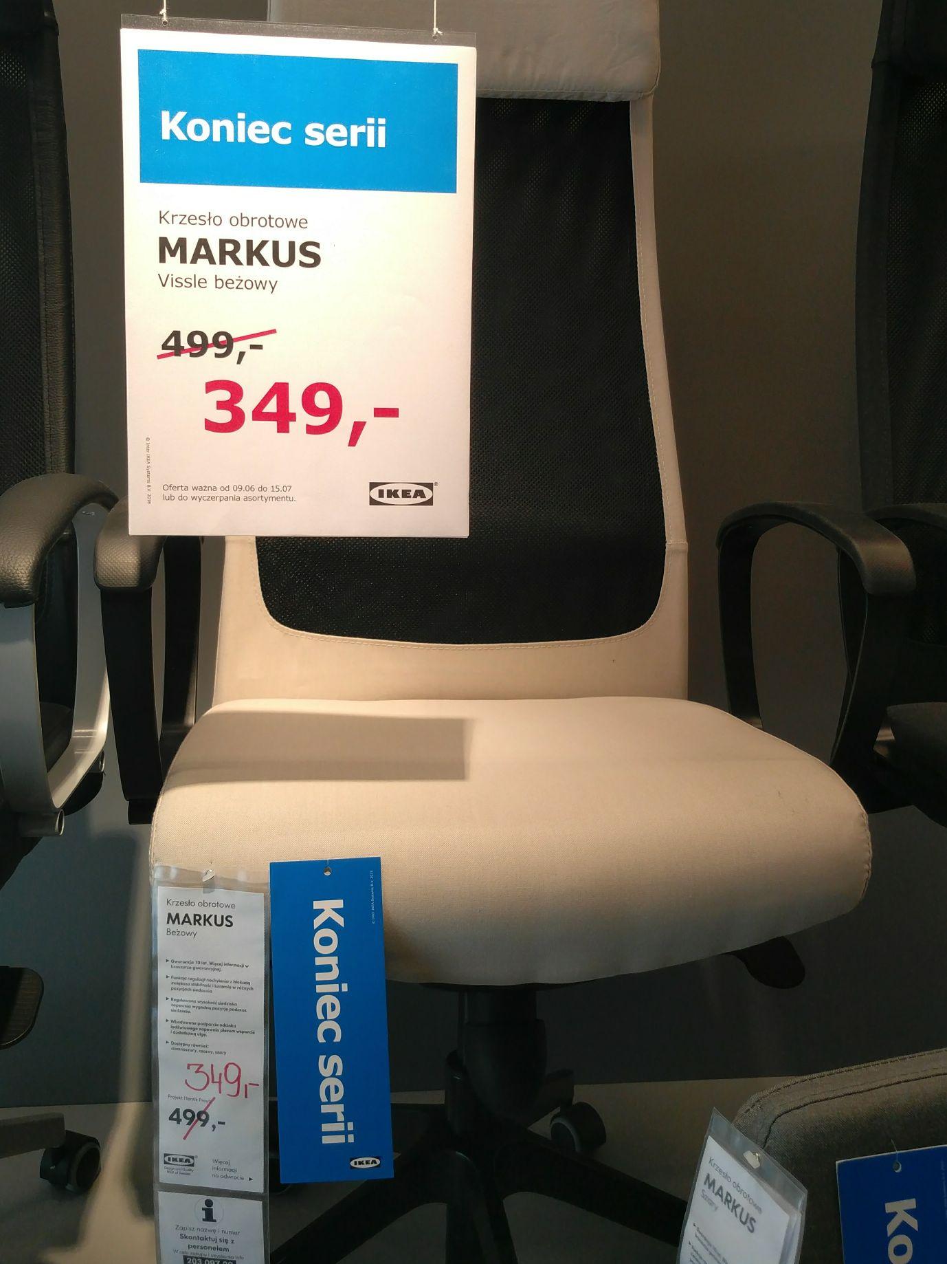 Krzesło Markus, kolor beżowy - Ikea Lublin 349zł