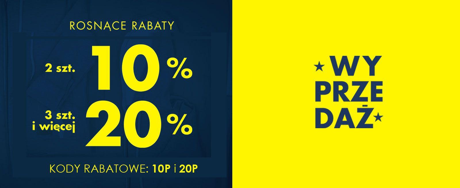 Wyprzedaż letnia z rosnącymi rabatami: 10% na dwa produkty i 20% na trzy i więcej @ Big Star