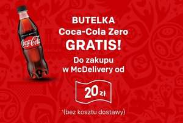 Butelka Coca-Cola Zero gratis w McDelivery MWZ 20 zł