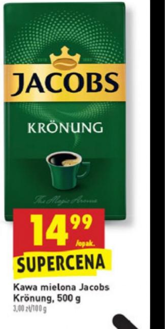 Kawa Jacobs Kronung 500g BIEDRONKA