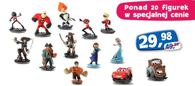 Zestaw startowy Disney Infinity PL (PS3, X360) za 169,98zł oraz dodatkowe figurki za 29,98zł @ ToysRus