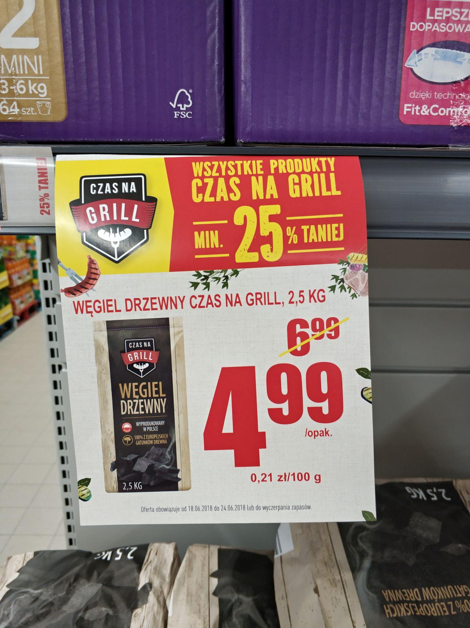 Biedronka - Wszystkie produkty na grill minimum 25% taniej