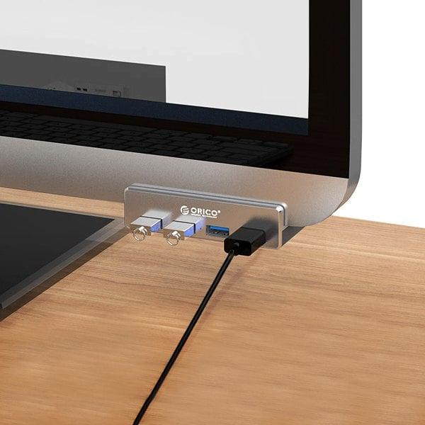 Hub 4x USB 3.0 przykręcany do monitora/biurka ORICO MH4PU