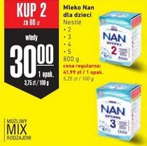 2x mleko NAN OptiPro 800g: 2, 3, 4, 5 (30 zł za 1) @ Intermarche