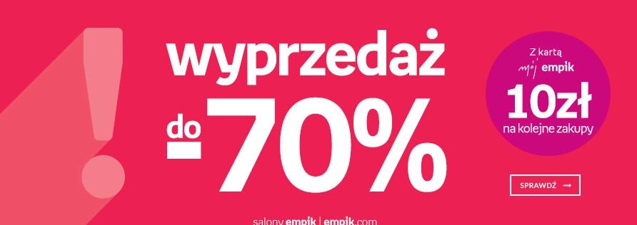 [Wyprzedaż] Do -70%  w empiku & empik.com