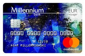 Darmowa karta Millennium MasterCard Voyager do konta walutowego w EUR przez rok