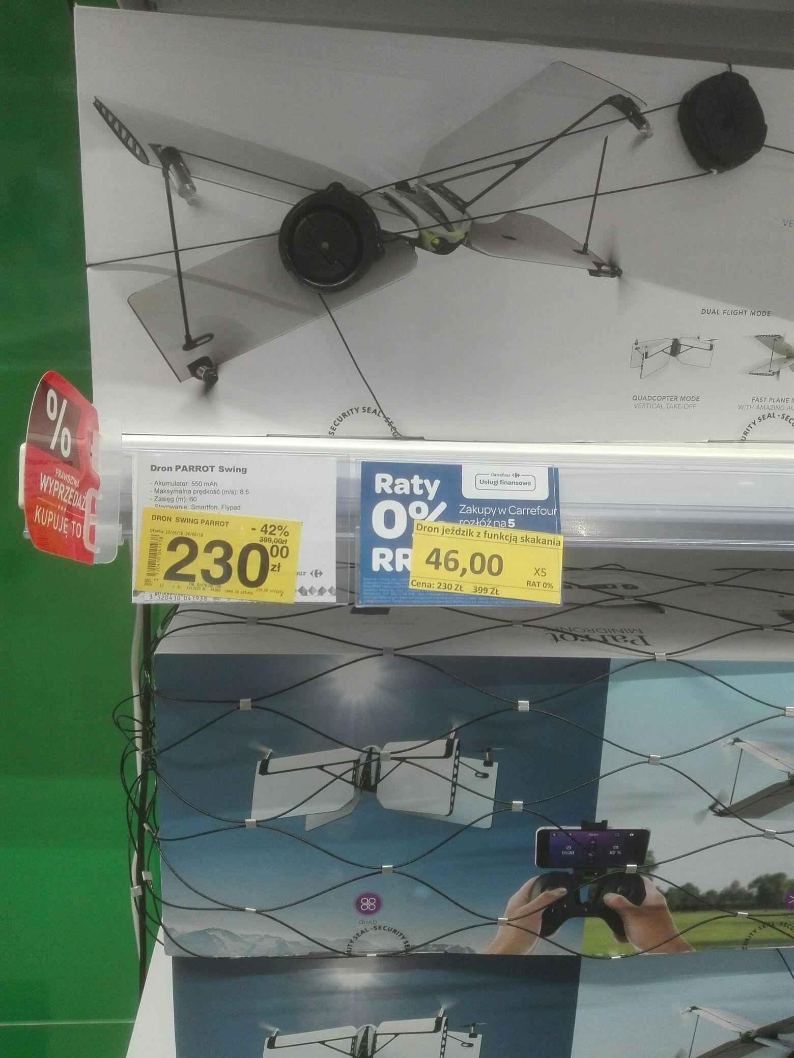 Dron parrot w promocji w Carrefour