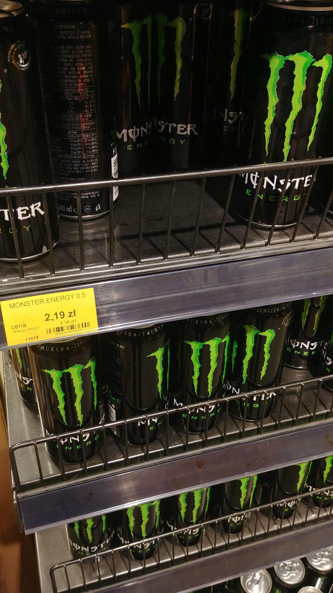 Monster Energy za 2.19 w Lewiatanie Łódź
