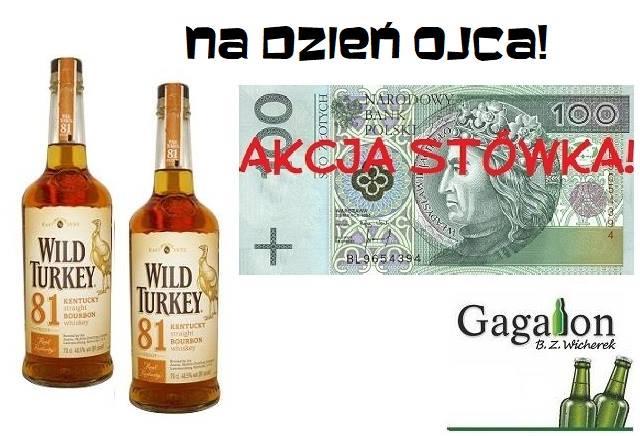 100zł za 2x 0,7l  Wildturkey bourbon w Gagalon na dzień ojca