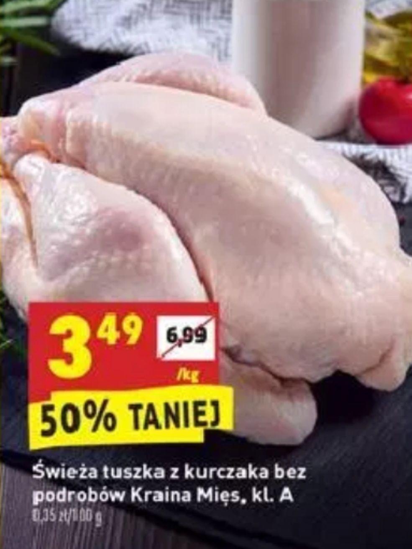 Kurczak tuszka 3.49zł/kg  @Biedronka