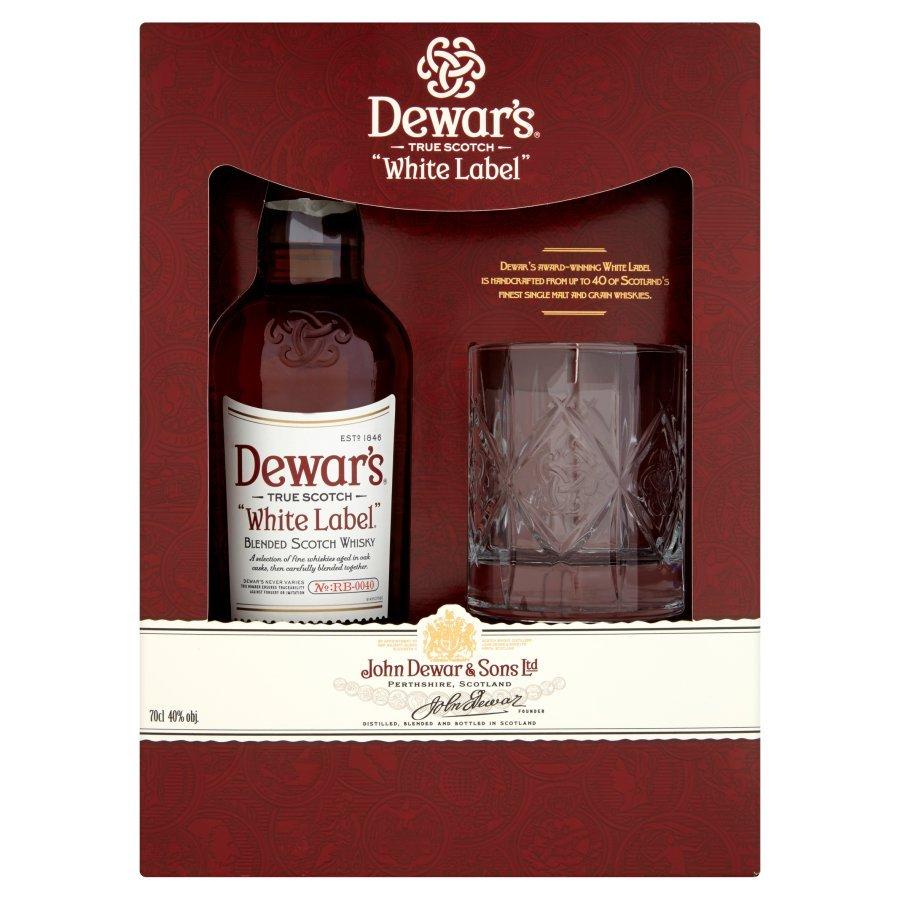 Dewar's White Label Blended Scotch Whisky 0,7l + szklanka w świetnej cenie!