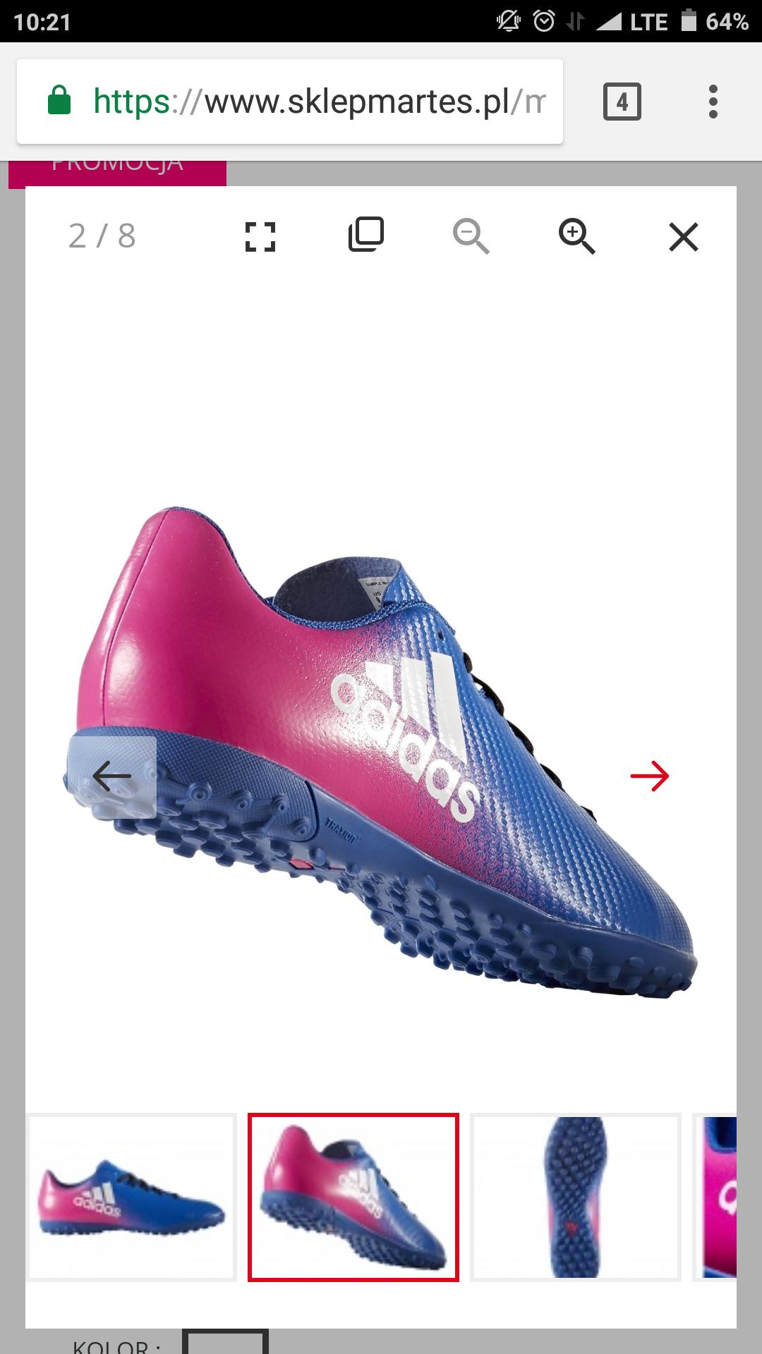 Turfy Adidas w dobrej cenie rozmiary 44, 44 2/3, 46