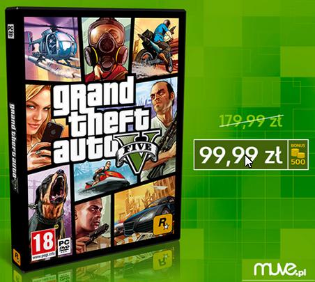 Muve.pl GTA 5 za 99zł plus inne promocje