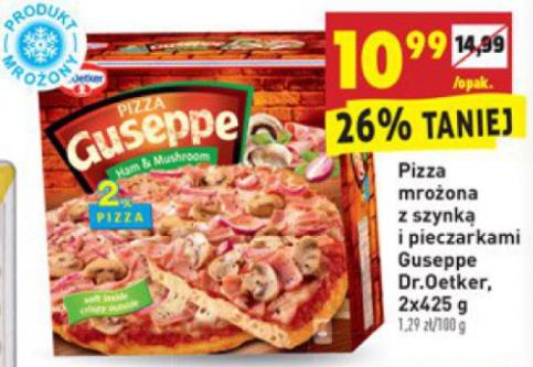 2x Pizza Guseppe Szynka z pieczarkami Biedronka