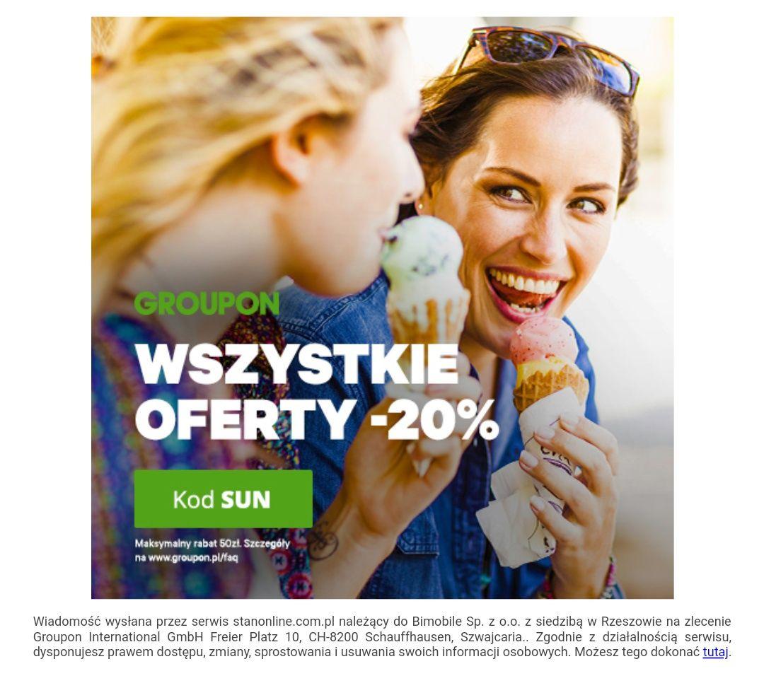 Groupon wszystkie oferty -20%