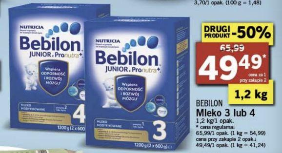Mleko modyfikowane Bebilon Nutricia 3 lub 4 - LIDL