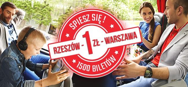 LuxExpress: Bilety na trasie Rzeszów - Warszawa - Rzeszów za 1 zł!