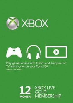 Xbox Live 12-miesięczne, złote członkostwo (Xbox One / 360) - globalne