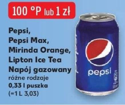Puszka Pepsi, Mirinda, Lipton Ice Tea za 1zł w Kauflandzie