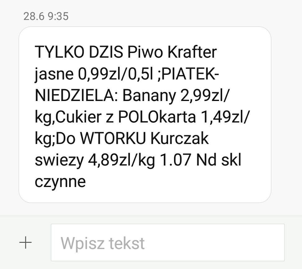 Piwo Krafter 0.5l w Polomarket