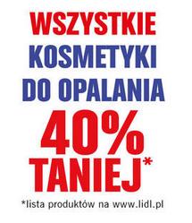 Kosmetyki do opalania taniej o -40% @ Lidl (30.06. -1.07.)