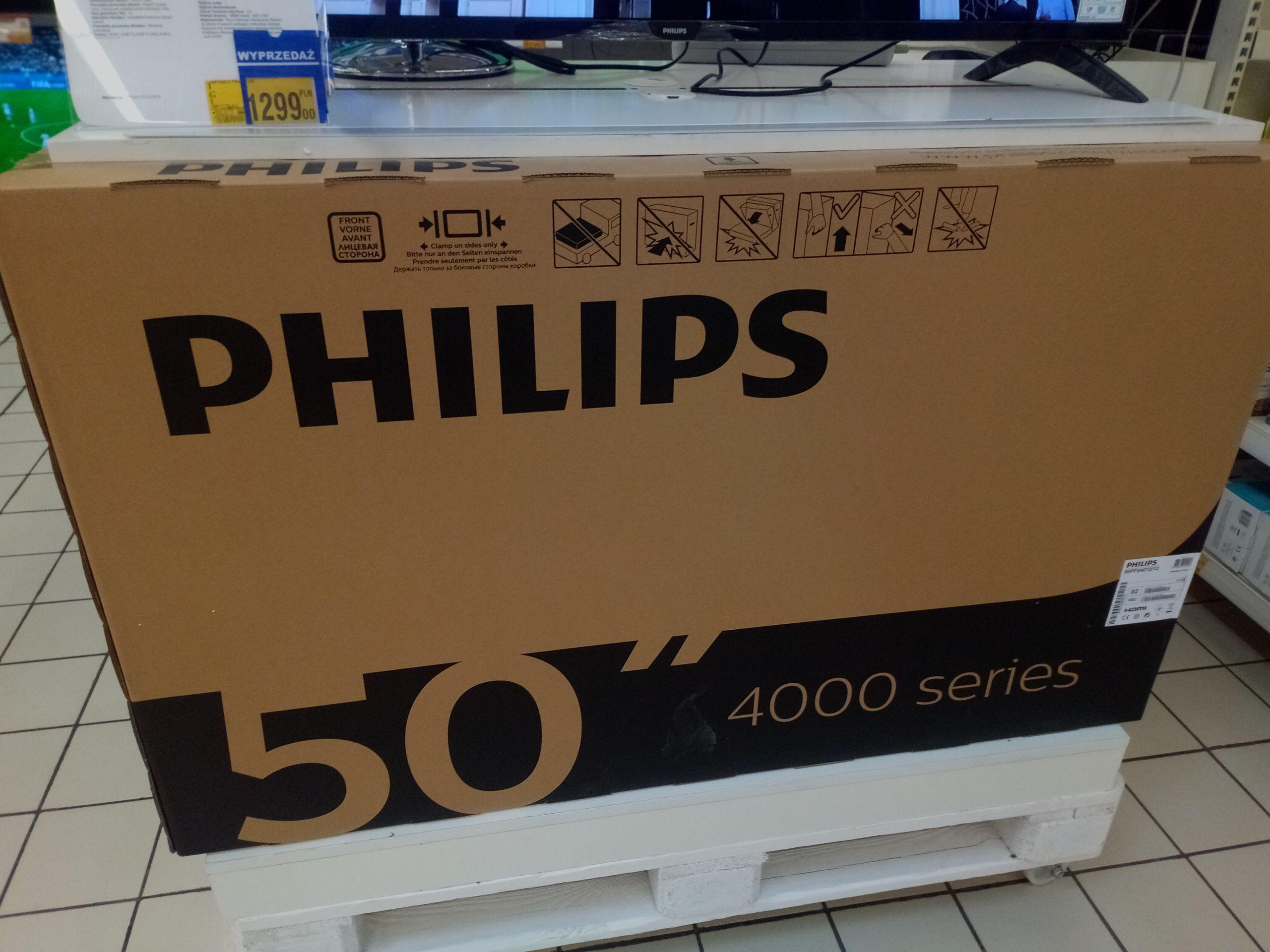 Tv Philips 50PFS4012/12 wyprzedaż Auchan białystok