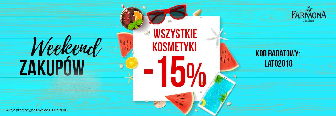 Weekend zakupów wszystkie kosmetyki - 15% FARMONA