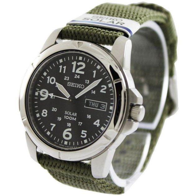 Zegarek Seiko SNE095P1 lub SNE095P2 - solarny, pasek parciany lub bransoleta