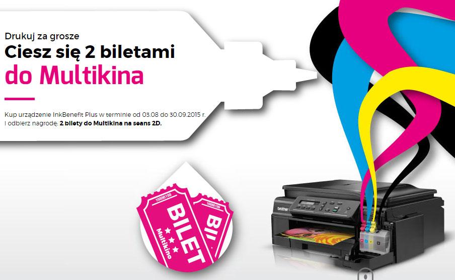2 bilety do Multikina przy zakupie urządzenia z serii InkBenefit Plus @ Brother