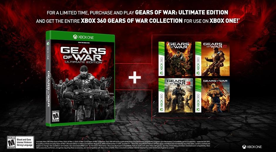 Seria gier Gears of War ZA DARMO przy zakupie Ulimate Edition na XBOX ONE