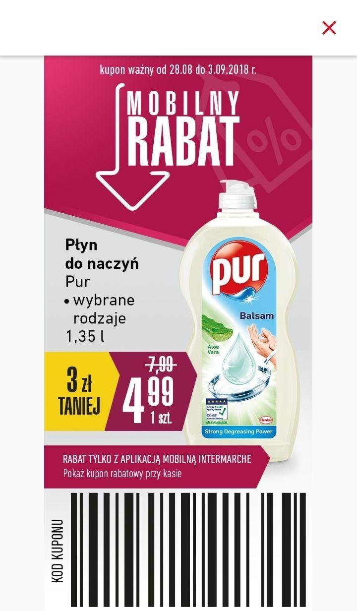 Pur 1,35L płyn do mycia naczyń (3,70zł za L) @ Intermarche