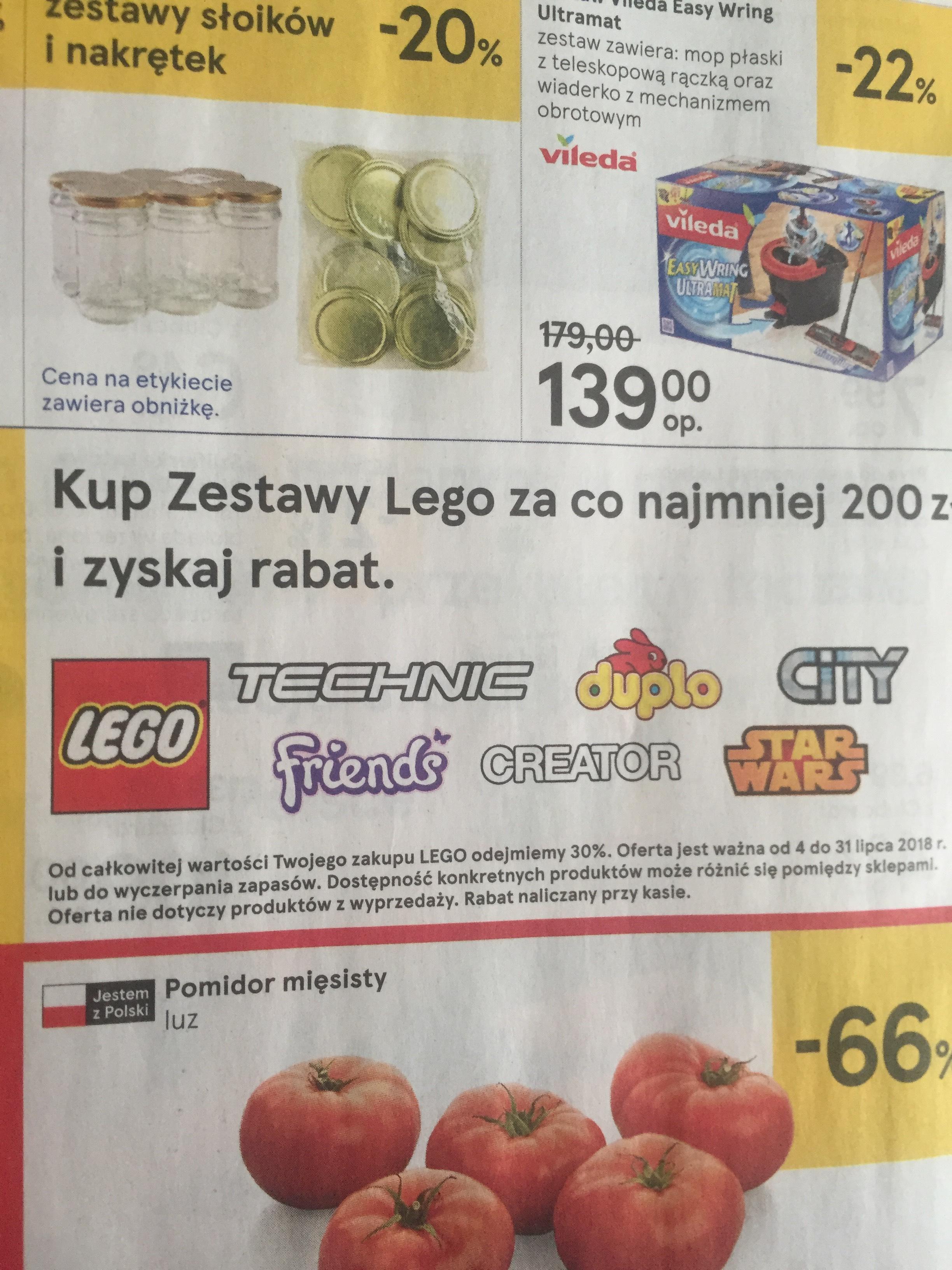 30% rabatu na Lego mwz 200zł @tesco