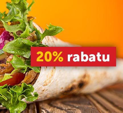 Pizza Portal - Kod rabatowy 20% na kebaby i burgery