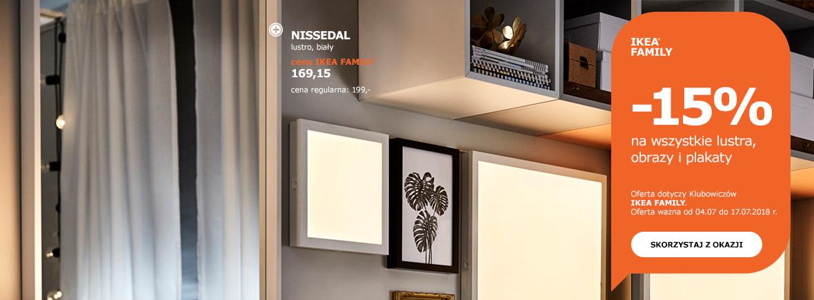 -15% na wszystkie lustra, obrazy i plakaty @ Ikea Family
