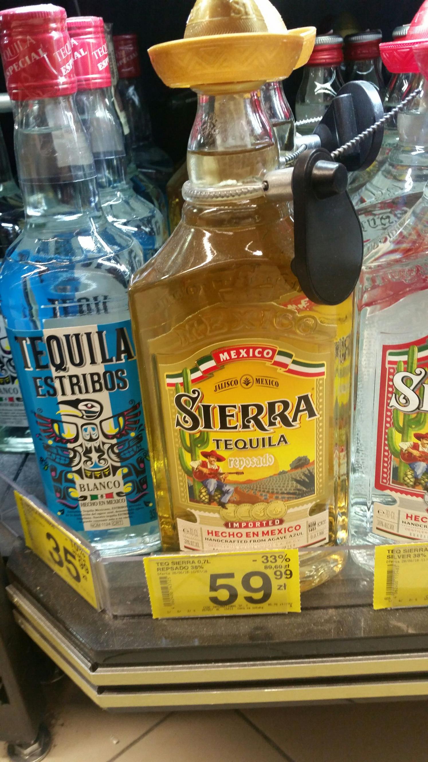 Carrefour Tequila Sierra reposado