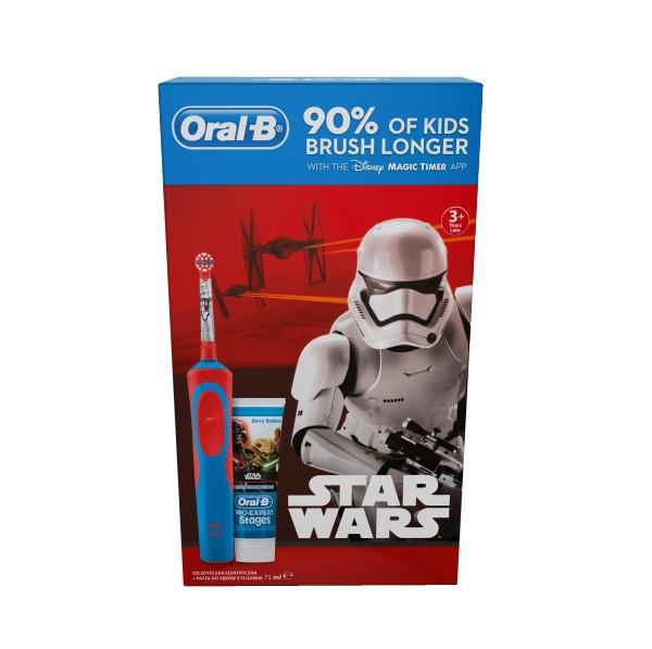 Szczoteczka elektryczna dla dzieci Oral-B Star Wars + pasta do zębów (dostawa gratis) @ cdp.pl