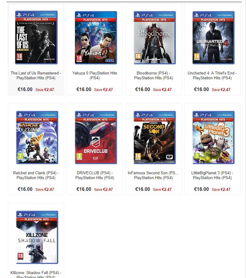2 gry z serii Playstation Hits na PS4 za ~131,50zł (min. Ratchet& Clank, Bloodborne, Uncharted 4) @ Base