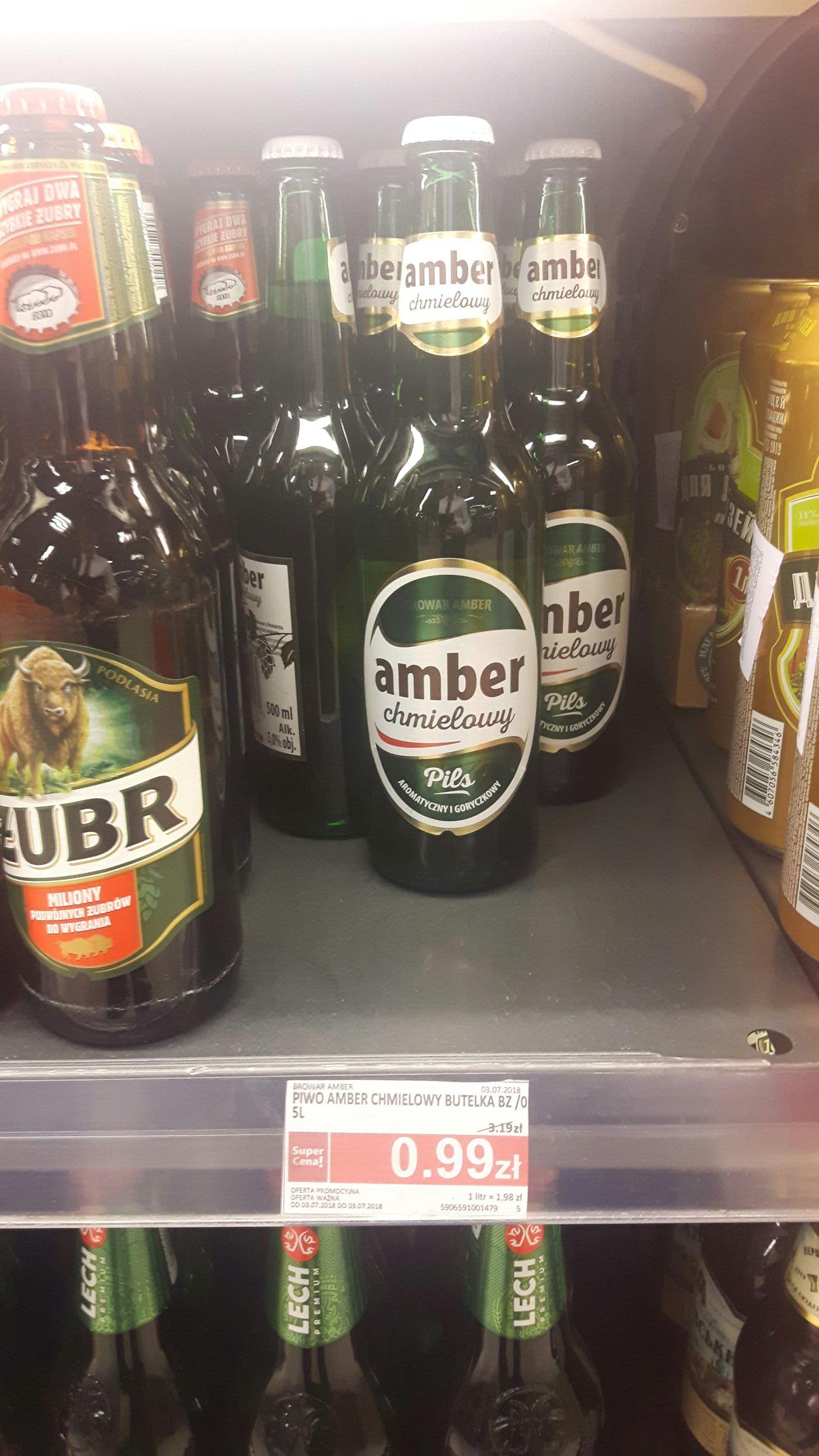 Piwo Amber chmielowy pils 0,5 l Piotr i Paweł Legnica