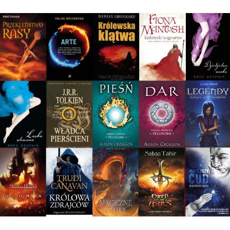 Władca pierścieni + 14 książek fantastycznych oraz kryminały, powieści