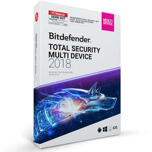 Bitdefender Total Security Multi Device 2018 | (MAC, Windows & Android) 3 PC , 2 lata