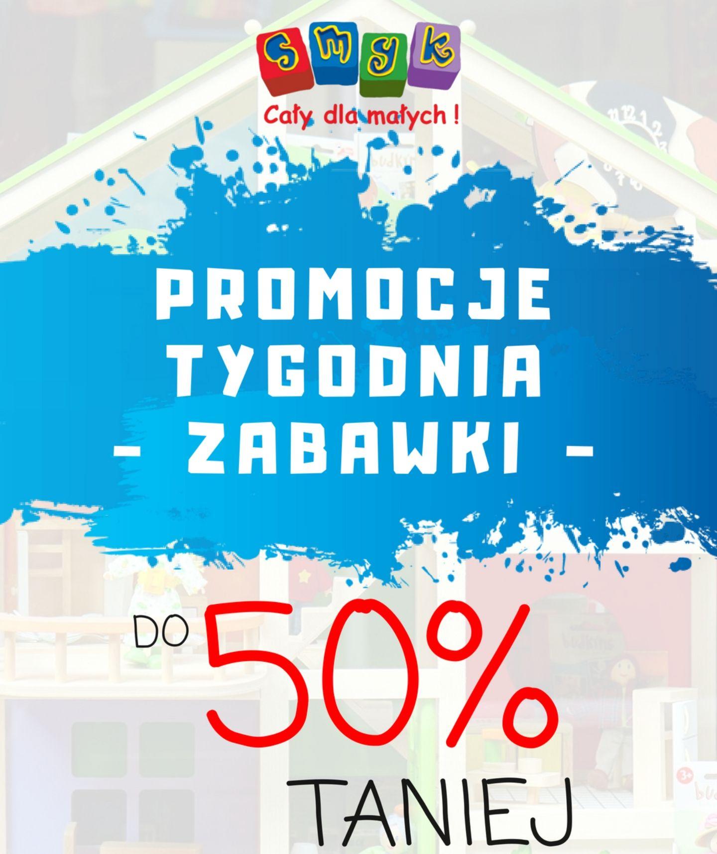 Do - 50% na zabawki i artykuły szkolne dla dzieci na Smyk.com