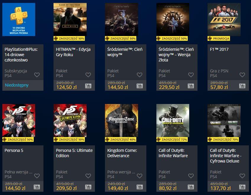Podwójne rabaty w PlayStation Store