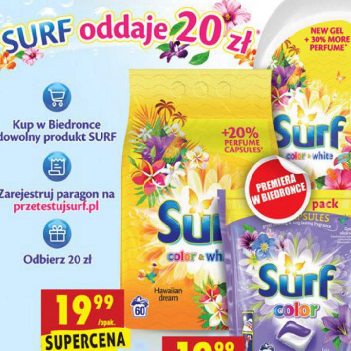 Surf oddaje 20zł! MWZ 20zł. Biedronka
