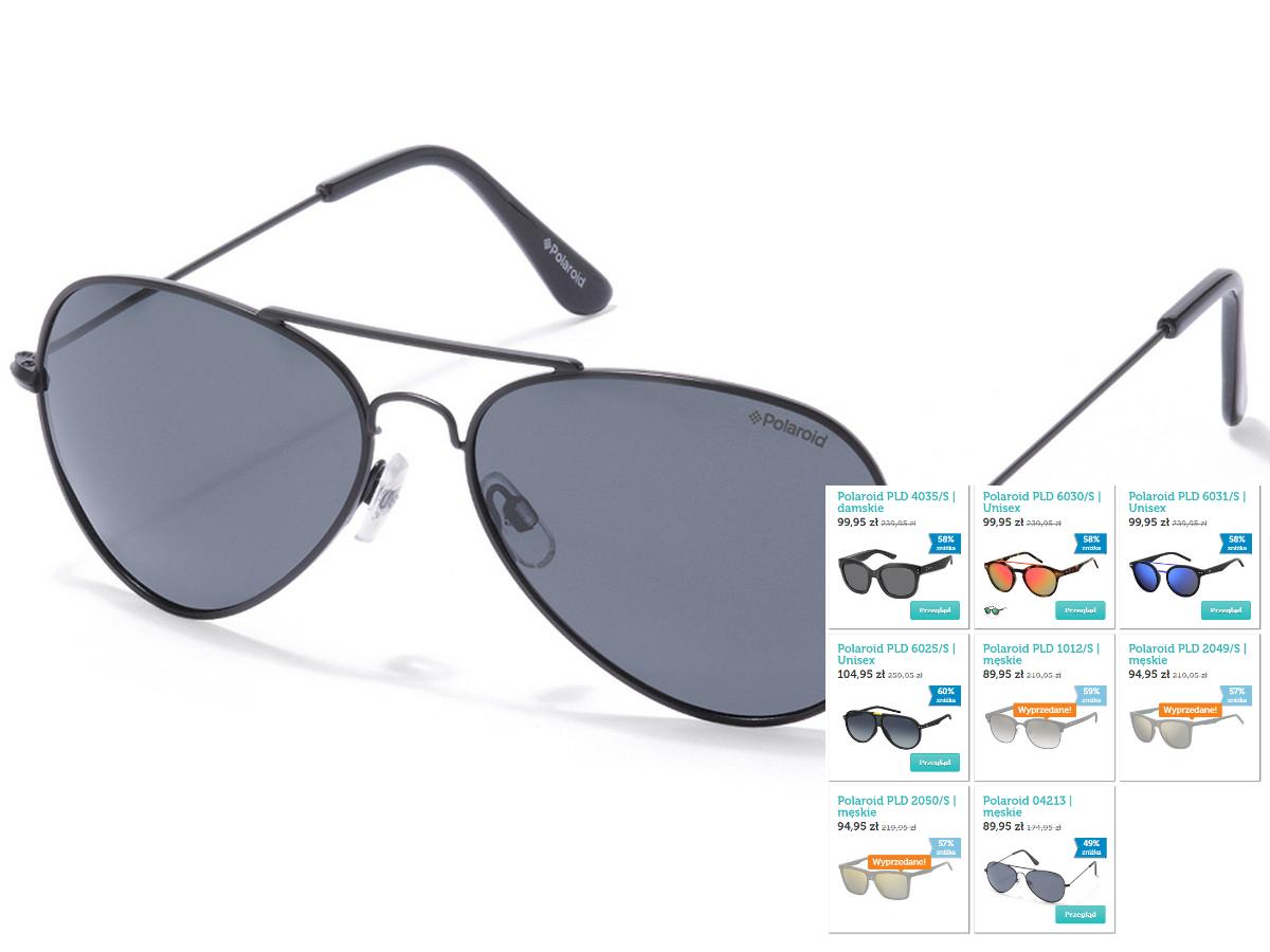 Okulary przeciwsłoneczne Polaroid - polaryzacja, 8 modeli