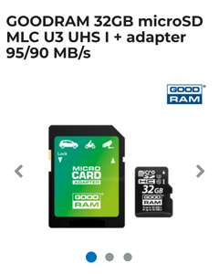 Karta microsd goodram 32gb MLC oraz Kingston 64gb