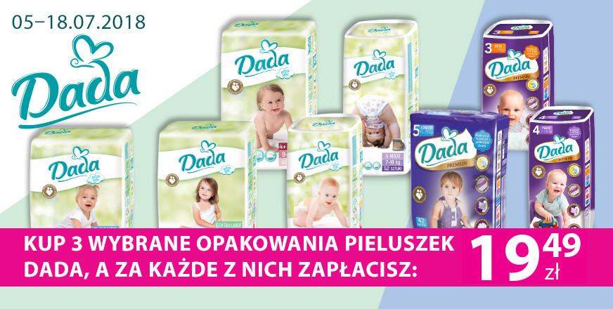 Pieluszki Dada Extra Soft lub Premium za 19,49zł @ Hebe