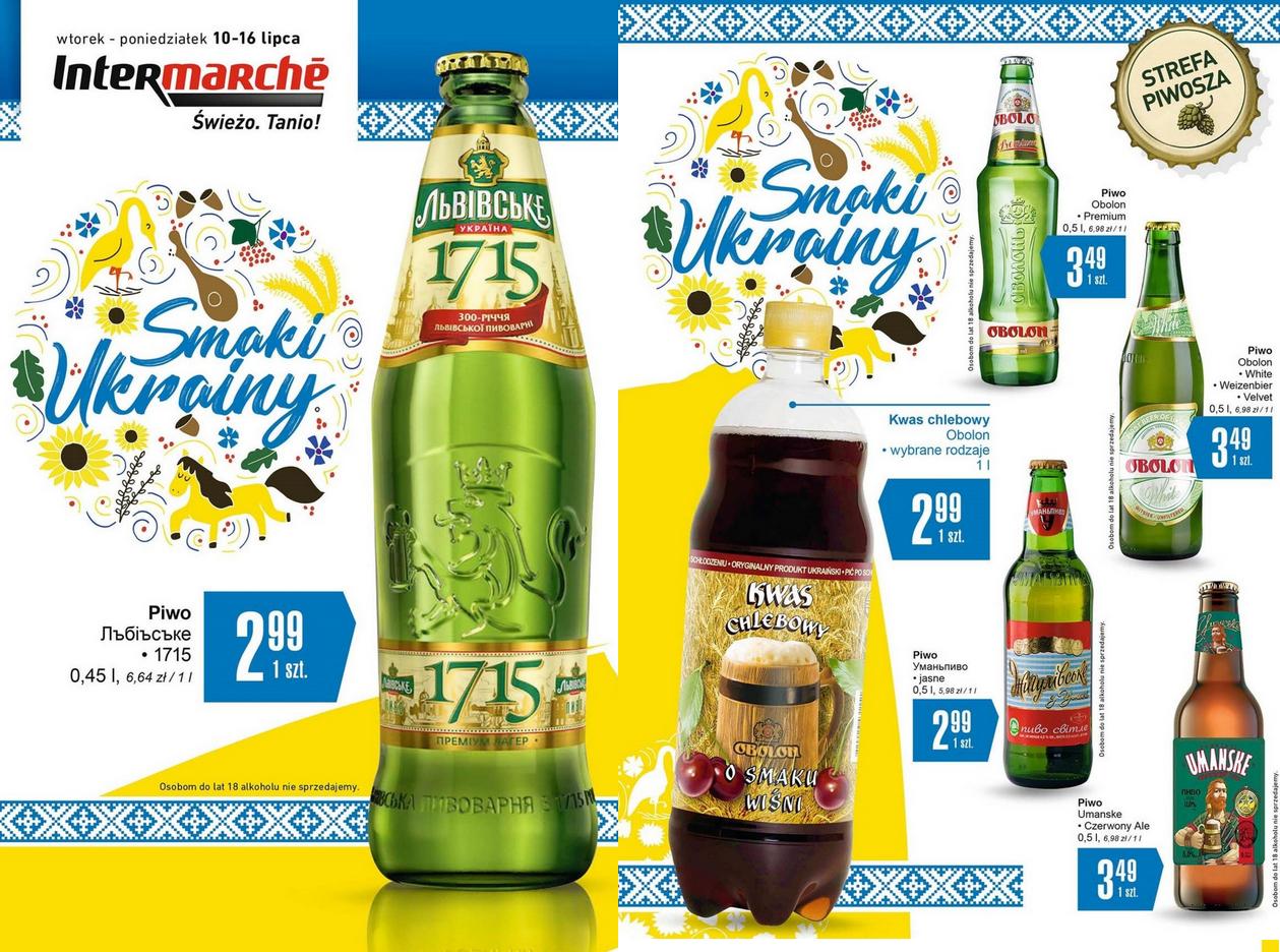 Ukraińskie piwa: Lwowskie, Obołoń, Umańskie, Żygulowskie (2,99-3,49zł) @ Intermarche