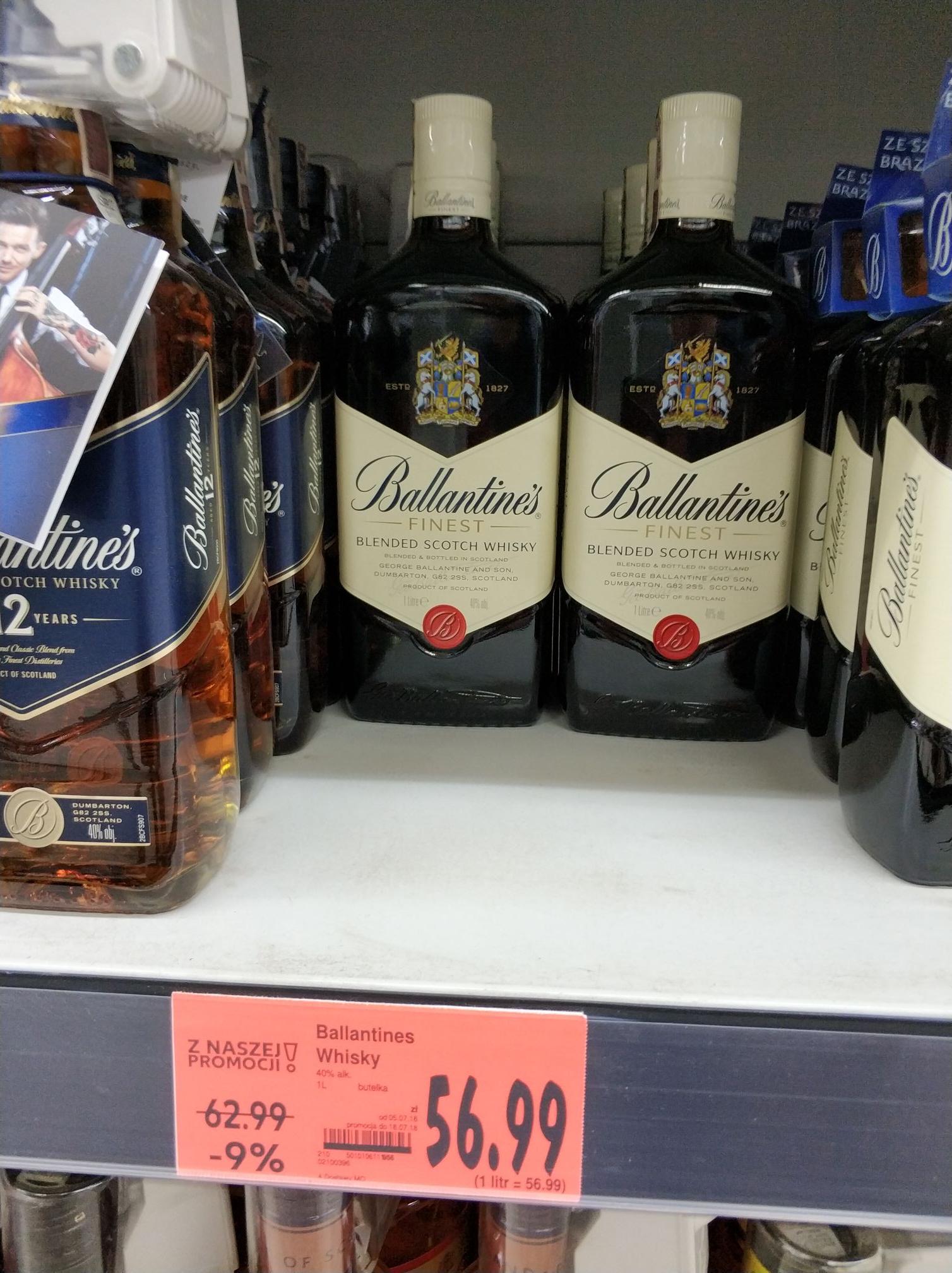 Ballantines Whisky 1 litr Kaufland