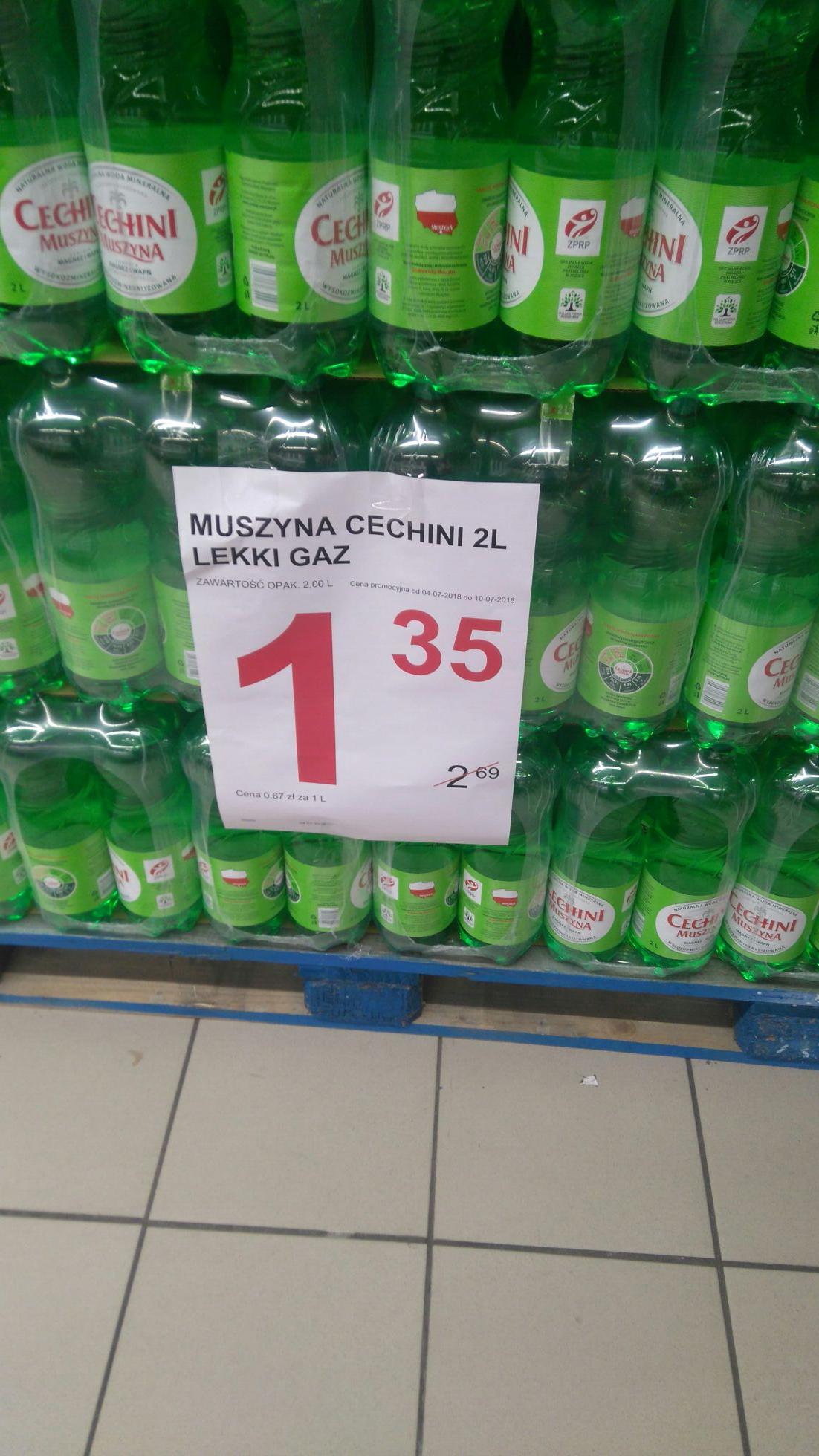 Cechini Muszyna 2l 1.35 zł. DOBRA WODA, ZDROWIA DODA. Simply Market