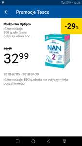 Mleko Nan Optipro 2,3,4,5 800g (2x400g) w Tesco